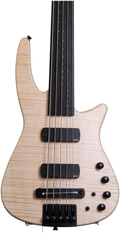 NS Design CR5 Radius Bass Guitar Natural Satin, Fretless image 1