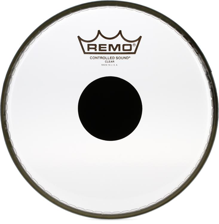 Remo Controlled Sound Clear/Black Dot Drumhead - 8