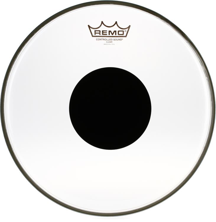 Remo Controlled Sound Clear/Black Dot Drumhead - 12