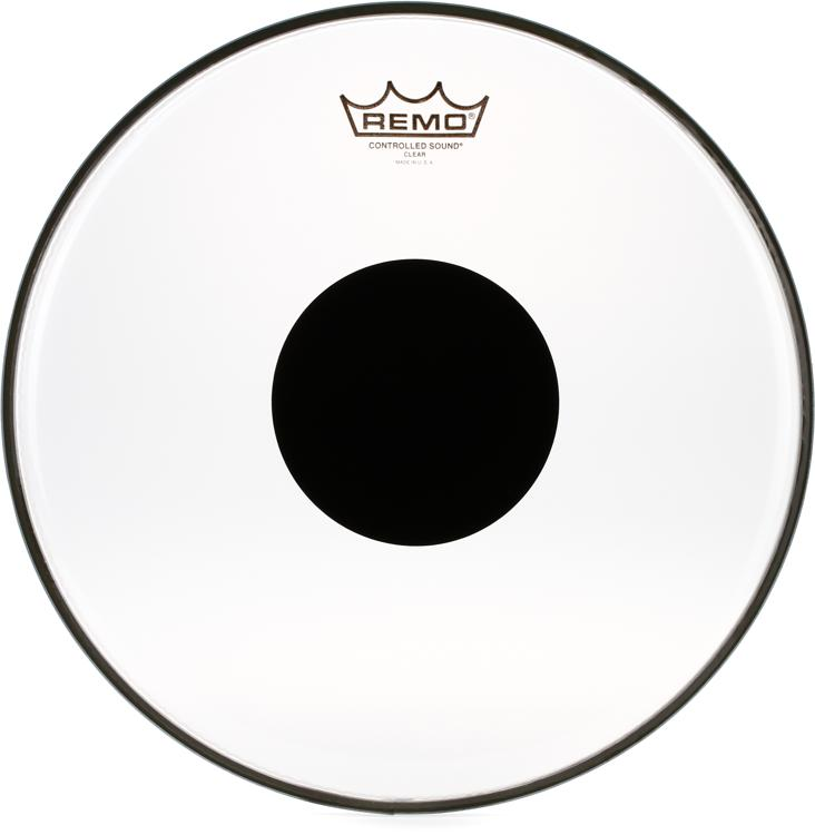 Remo Controlled Sound Clear/Black Dot Drumhead - 13