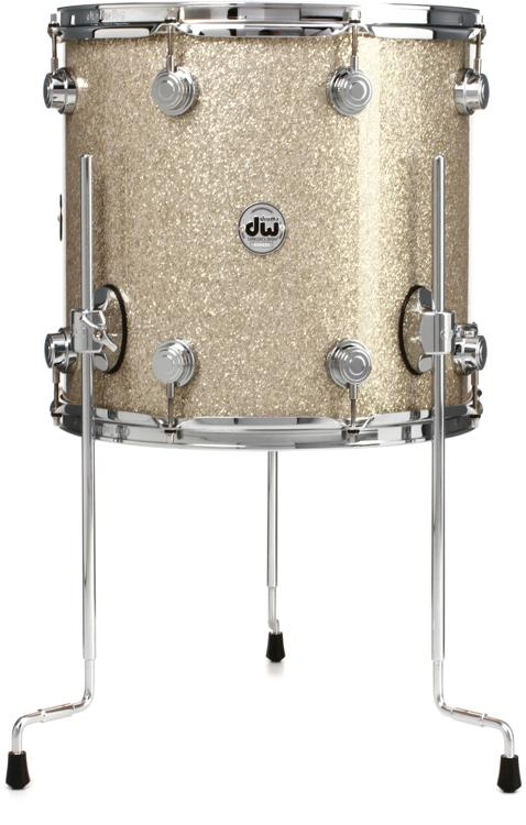 DW Collector\'s Series FinishPly Floor Tom - 12x14 - Broken Glass image 1
