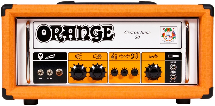 Orange CS50 Custom Shop 50-watt Tube Head image 1