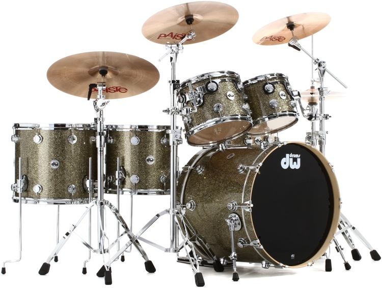 DW Collector\'s Series FinishPly Shell Pack - 6-pc - Gold Galaxy image 1