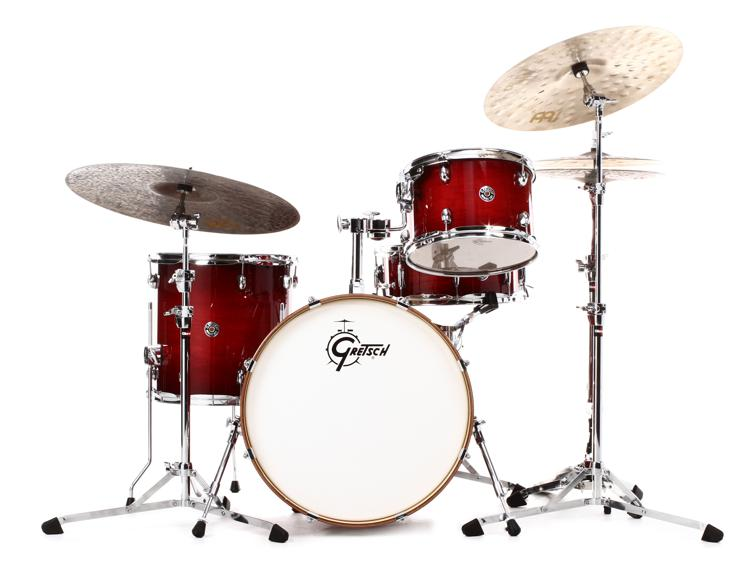 gretsch drums catalina club jazz 4 piece shell pack with snare drum 18 kick gloss crimson. Black Bedroom Furniture Sets. Home Design Ideas