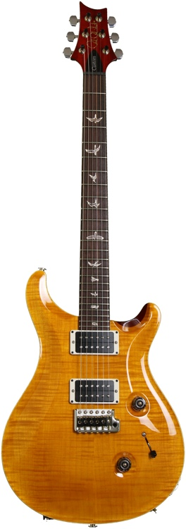 PRS Custom 24 Flame 10 Top - Vintage Yellow image 1