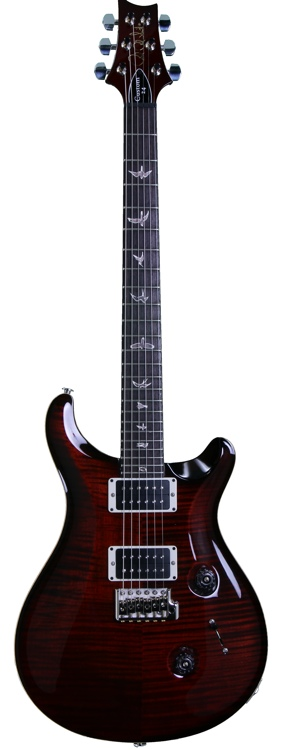 PRS Custom 24 - 10-Top Fire Red Burst, Pat-Thin image 1