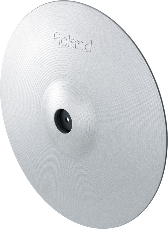 Roland CY-15R-SV 3-zone RIde Cymbal - Silver image 1