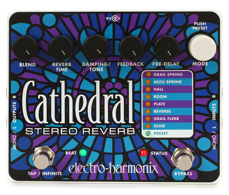 Electro-Harmonix Cathedral Stereo Reverb Pedal image 1