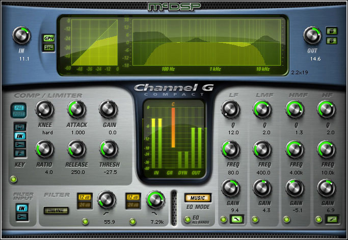 McDSP Channel G Compact HD v6 Plug-in image 1