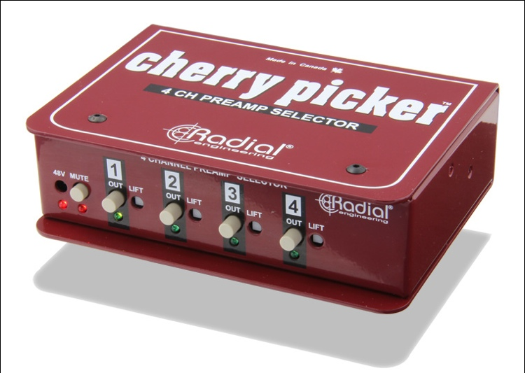 Radial Cherry Picker 4-channel Preamp Selector image 1