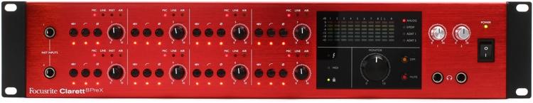 Focusrite Clarett 8Pre X 26x28 Thunderbolt Audio Interface image 1