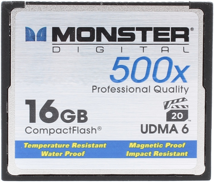 Monster Digital 16GB CompactFlash Card - 16 GB, 500x image 1