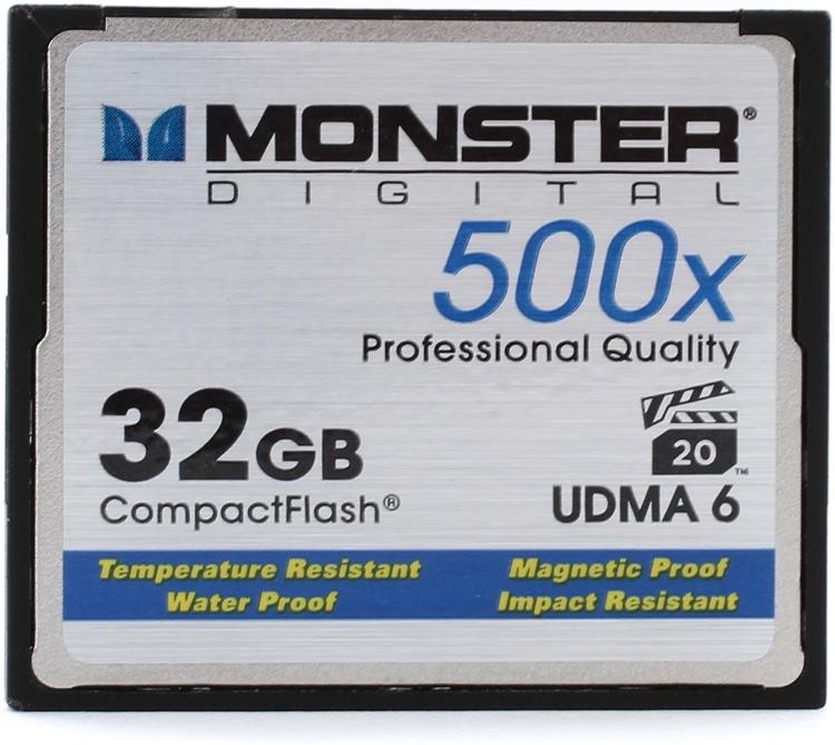 Monster Digital 32GB CompactFlash Card - 32 GB, 500x image 1