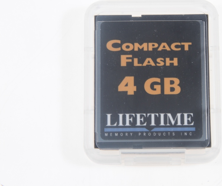 Lifetime Memory CompactFlash Card - 4 GB, 133x image 1