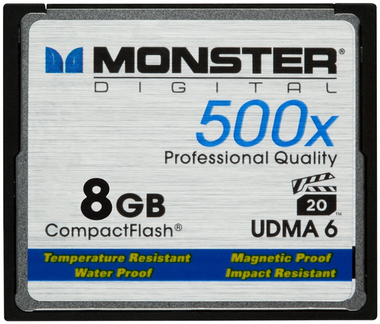 Monster Digital 8GB CompactFlash Card - 8 GB, 500x image 1