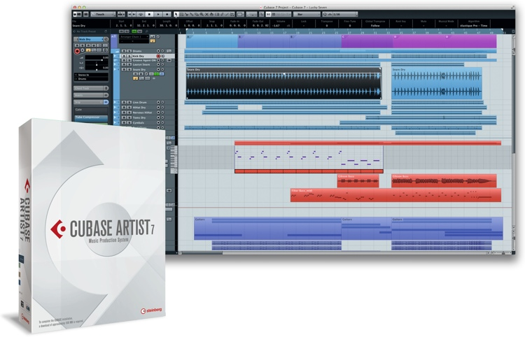 Steinberg Cubase Artist 7 - Upgrade from Essential/Elements (boxed) image 1
