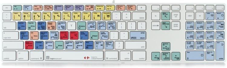 LogicKeyboard Advance Line Mac Keyboard - Steinberg Cubase / Nuendo image 1