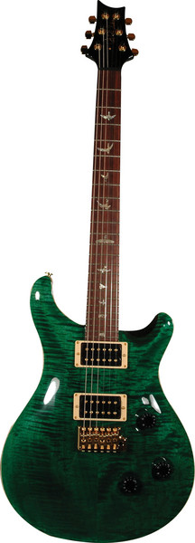 PRS Custom 24 - Emerald Green w/Birds GH image 1