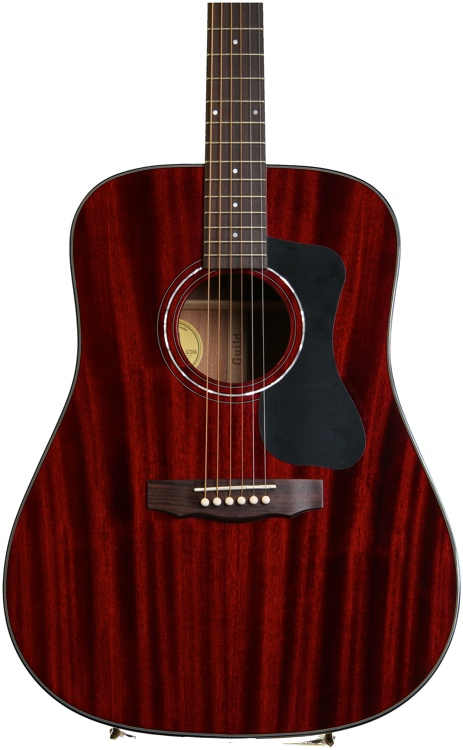 Guild D-125 Dreadnought - Cherry Red image 1