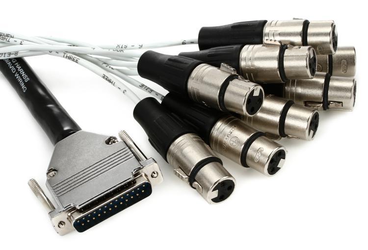Pro Co DA88XF-10 - Analog DB25-XLRF Patch Snake, 10\' image 1