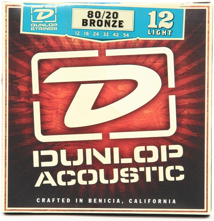 Dunlop DAB1254 80/20 Bronze Light Acoustic Strings image 1
