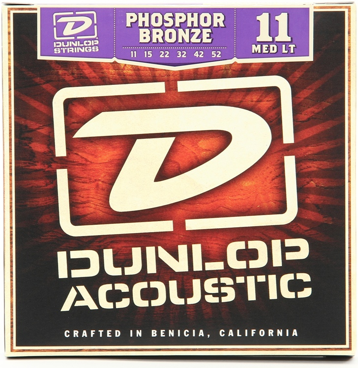 Dunlop DAP1152 Phosphore Bronze Medium Light Acoustic Strings image 1
