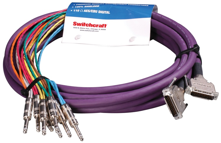 Switchcraft DB25MM10TRS StudioPatch Series Breakout Cable - 10\' image 1