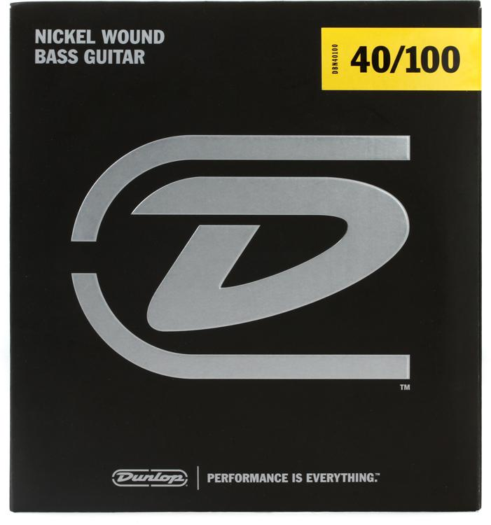 Dunlop DBN40100 Nickel Plated Steel Light Bass Strings image 1