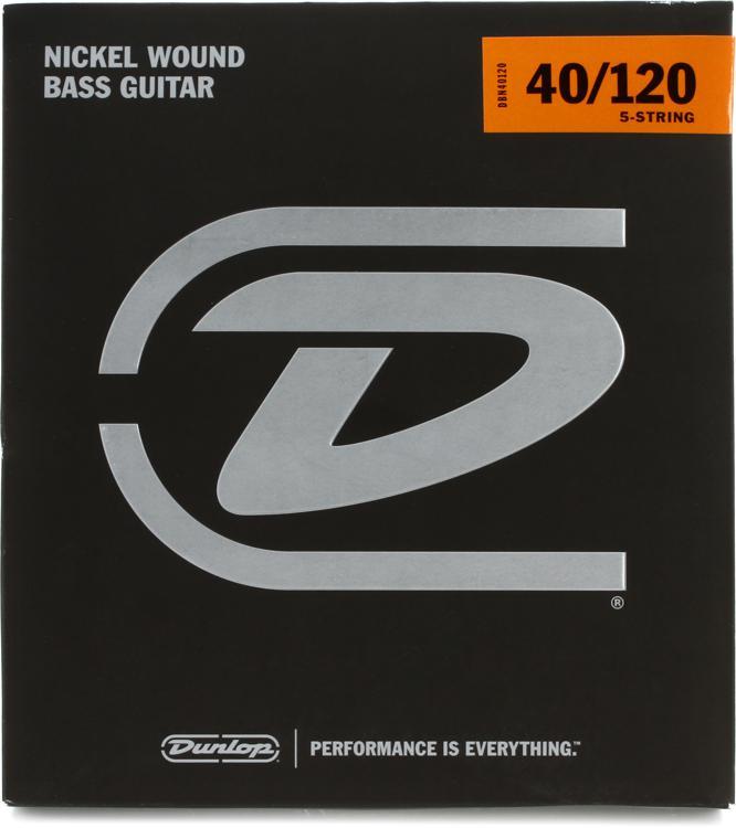 Dunlop DBN40120 Nickel Plated Steel Light 5-String Bass Strings image 1