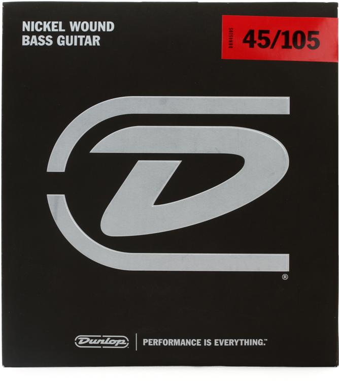Dunlop DBN45105 Nickel Plated Steel Medium Bass Strings image 1