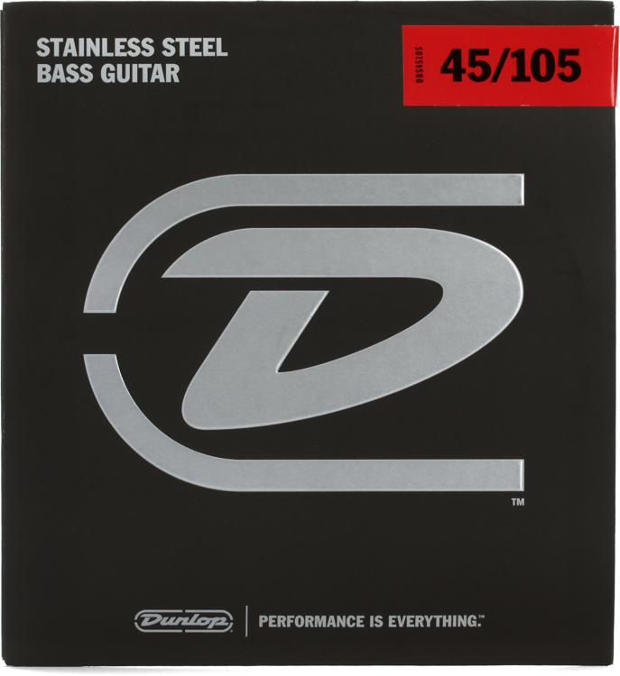 Dunlop DBS45105 Stainless Steel Medium Bass Strings image 1