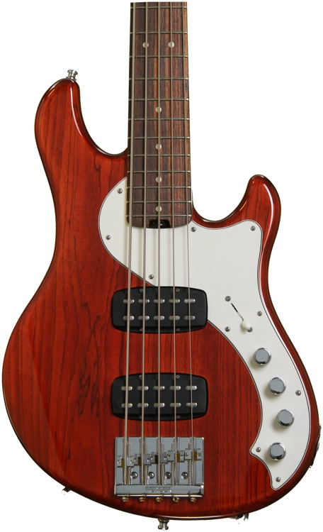 Fender American Deluxe Dimension Bass V HH - Cayenne image 1