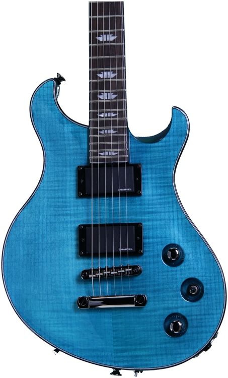 Charvel Desolation DC-2 ST - Transparent Blue Smear image 1