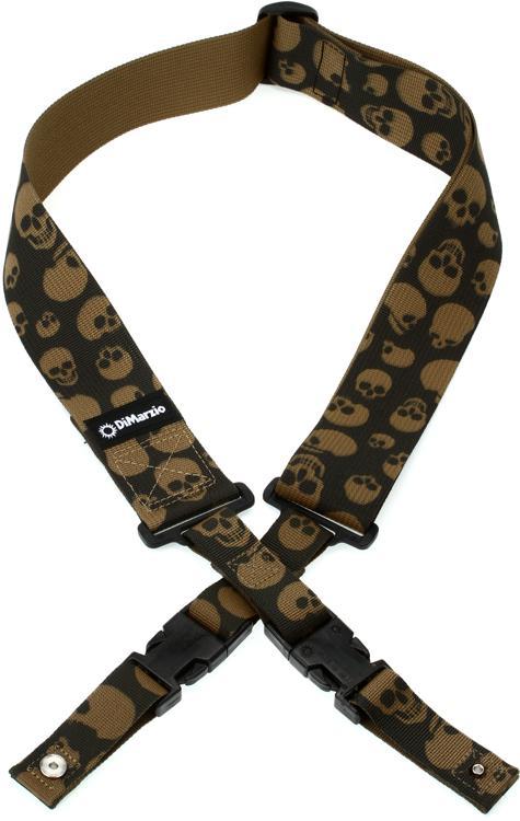 DiMarzio ClipLock Strap - Cordura Skulls image 1