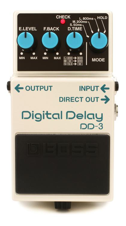 boss dd 3 digital delay pedal sweetwater. Black Bedroom Furniture Sets. Home Design Ideas