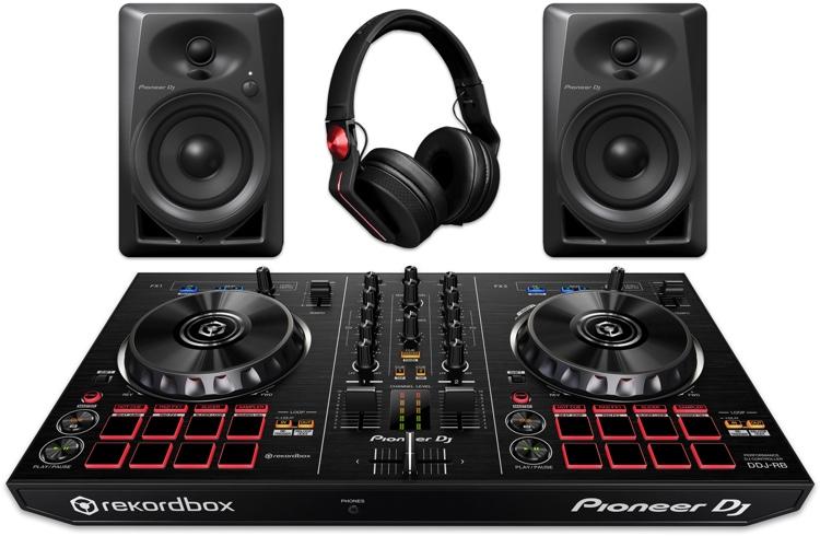 Pioneer DJ Digital DJ Package with DDJ-RB, DM-40s, and HDJ-700 image 1