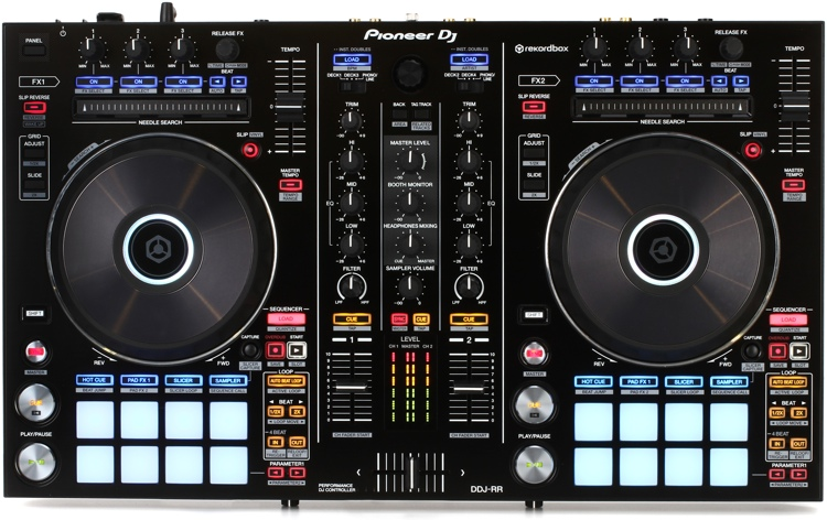 pioneer dj ddj rr 2 deck rekordbox dj controller sweetwater. Black Bedroom Furniture Sets. Home Design Ideas