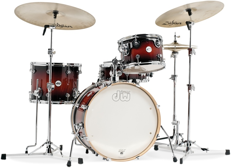 DW Design Series Frequent Flyer 4pc Shell Pack - Tobacco Burst image 1