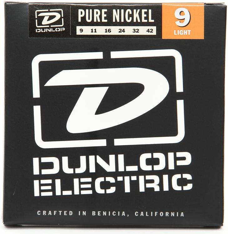 Dunlop DEK0942 Pure Nickel Electric Strings - .009-.042 Light image 1