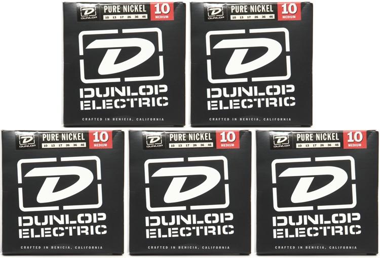 Dunlop DEK1046 Pure Nickel Medium Electric Strings 5 Pack image 1