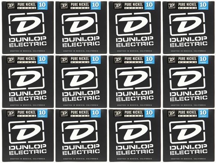 Dunlop DEK1052 Pure Nickel Light/Heavy Electric Strings 12 Pack image 1