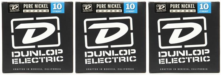 Dunlop DEK1052 Pure Nickel Light/Heavy Electric Strings 3 Pack image 1