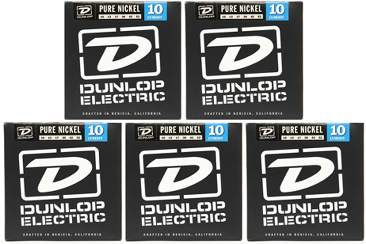 Dunlop DEK1052 Pure Nickel Light/Heavy Electric Strings 5 Pack image 1