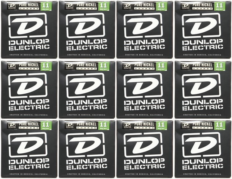 Dunlop DEK1150 Pure Nickel Medium Heavy Electric Strings 12 Pack image 1