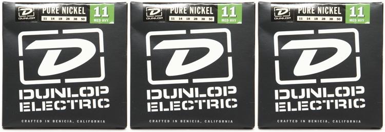 Dunlop DEK1150 Pure Nickel Medium Heavy Electric Strings 3 Pack image 1