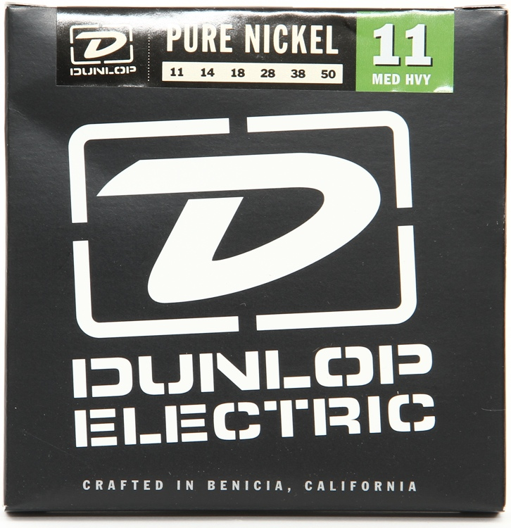 Dunlop DEK1150 Pure Nickel Medium Heavy Electric Strings image 1