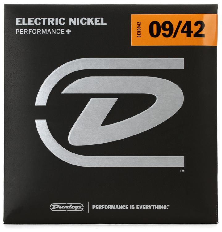Dunlop DEN0942 Nickel Plated Steel Electric Strings - .009-.042 Light  image 1