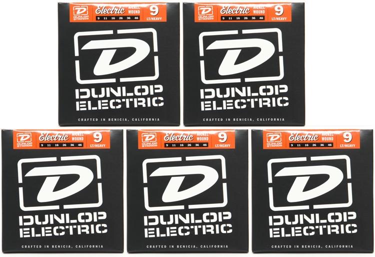 Dunlop DEN0946 Nickel Plated Steel Lt Top/Hvy Bottom Electric Strings 5 Pack image 1