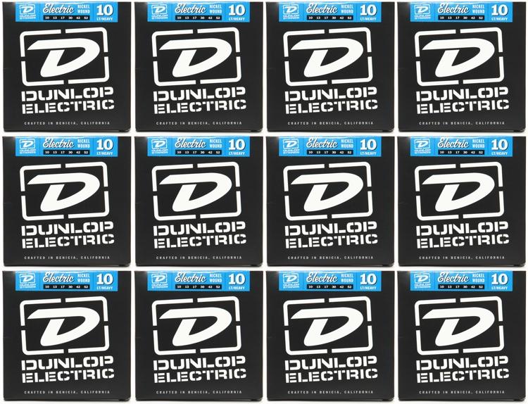 Dunlop DEN1052 Nickel Plated Steel Electric Strings - .010-.052 - 12 Pack image 1