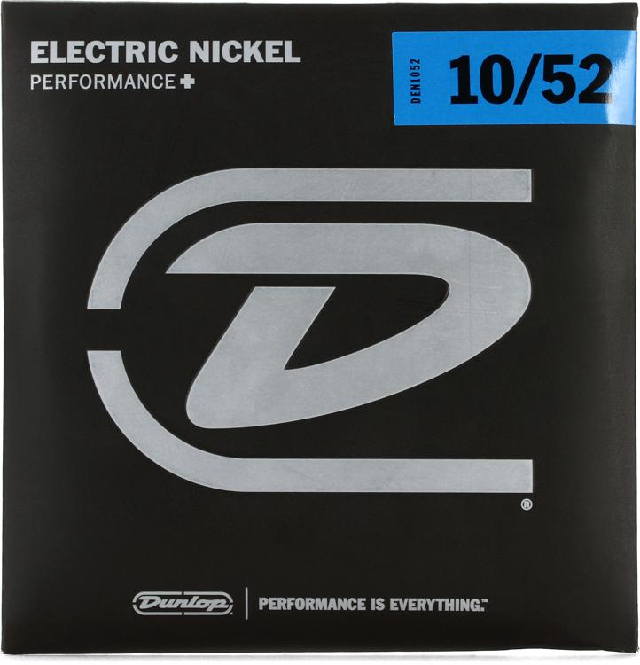 Dunlop DEN1052 Nickel Plated Steel Electric Strings - .010-.052 - Med Top/Hvy Bottom image 1